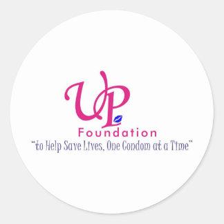 Up foundation round sticker