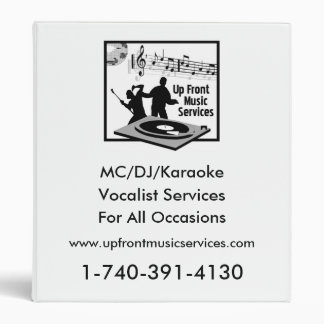 Up Front Music Services Binder
