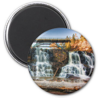 Up Gooseberry Falls 2 Inch Round Magnet