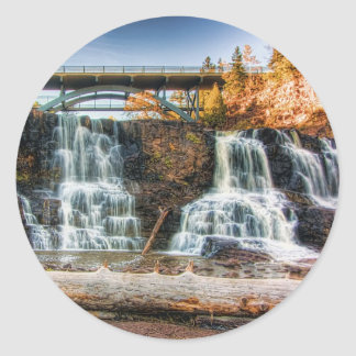 Up Gooseberry Falls Classic Round Sticker