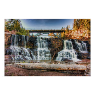 Up Gooseberry Falls Poster