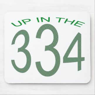 UP IN 334 (GREEN) MOUSE PAD
