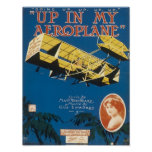 Up In An Aeroplane Vintage Songbook Cover Poster