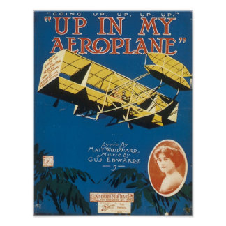 Up In An Aeroplane Vintage Songbook Cover Print