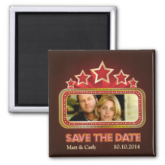 Up in Lights Save the Date Photo Magnet