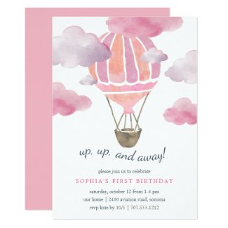 Up in the Air Kids Birthday Party Invitation