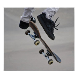 Up In The Air Skateboard Poster
