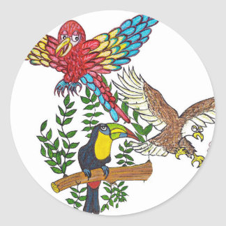 Up in the air they flew classic round sticker