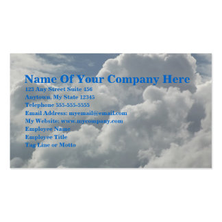 Up In The Clouds Double-Sided Standard Business Cards (Pack Of 100)