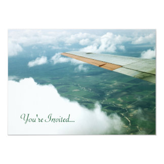 Up in The Clouds Plane Wings Land Flying Beautiful Card