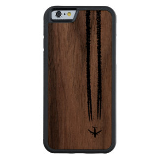 Up in the Sky/High Altitude Airplane Contrail Carved Walnut iPhone 6 Bumper Case