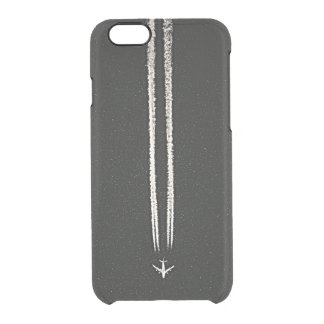 Up in the Sky/High Altitude Airplane Contrail Clear iPhone 6/6S Case