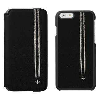 Up in the Sky/High Altitude Airplane Contrail iPhone 6/6s Wallet Case