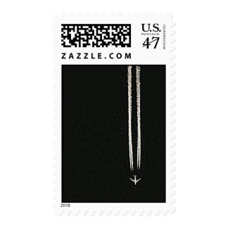 Up in the Sky/High Altitude Airplane Contrail Stamp