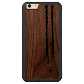 Up in the Sky/Jet Airplane/Pilot Gifts Carved Walnut iPhone 6 Plus Bumper Case