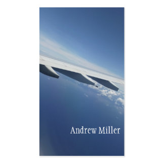 Up in the Sky/Window Seat Airplane Wing Business Card