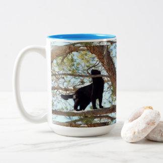 Up In The Tree Two-Tone Coffee Mug