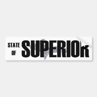 UP Michigan State of Superior Bumper Sticker