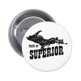 UP Michigan State of Superior Yooper Button