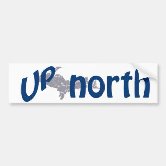 UP Michigan Up North Yooper Bumper Sticker