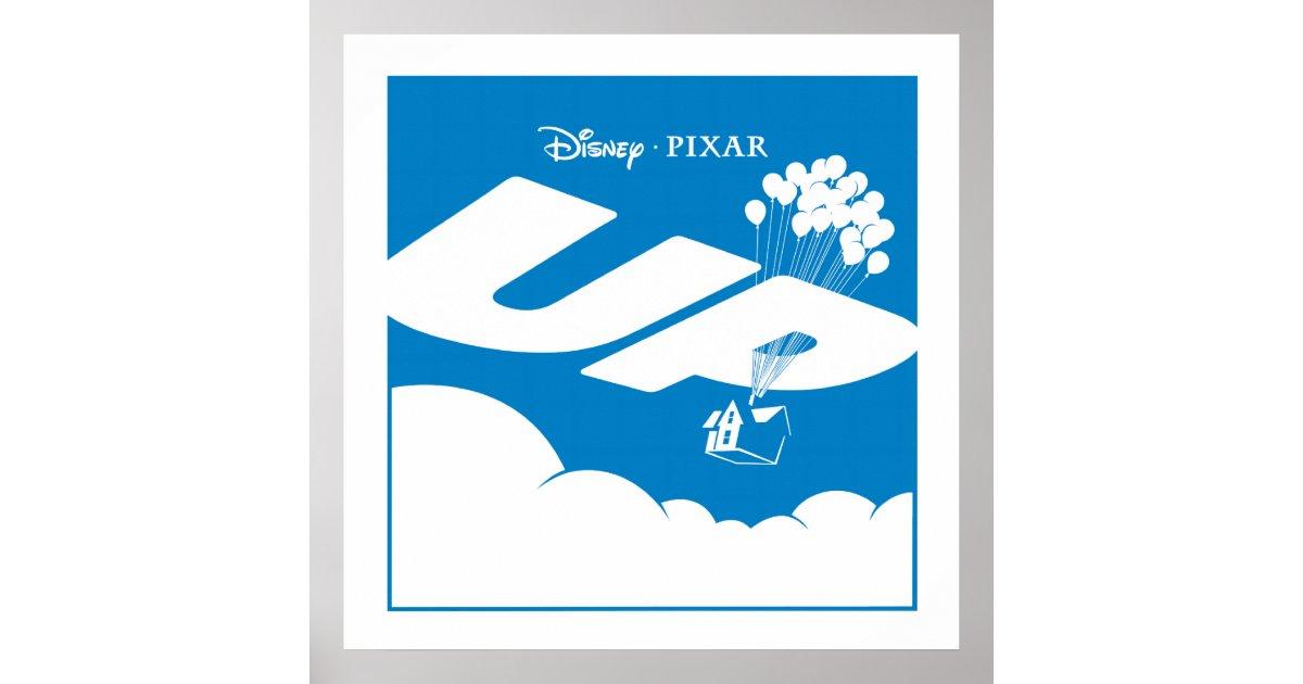 Up Movie Logo Flat Color Disney Pixar Poster Zazzle Com