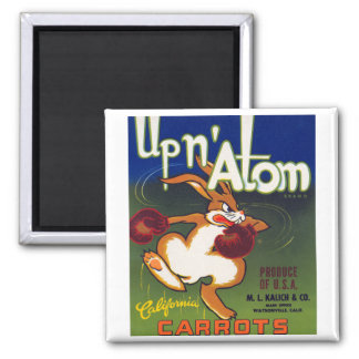 Up n' Atom California Carrots 2 Inch Square Magnet