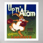 Up n' Atom California Carrots Poster