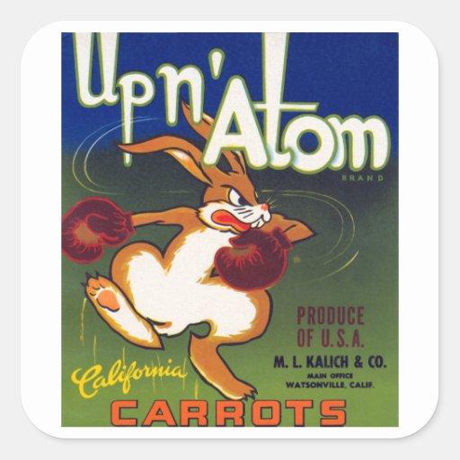 Up n' Atom California Carrots Square Sticker
