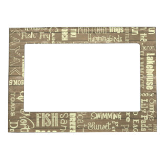 Up North at the Lake Cabin Magnetic Frame 5x7 Inch