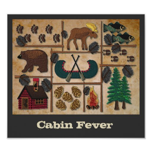 Up North Cabin Fever Poster