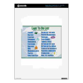 """Up North Lake """"To Do"""" List - Michigan & Wisconsin Decals For iPad 3"""