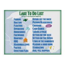 "Up North Lake ""To Do"" List - Michigan & Wisconsin Postcard"