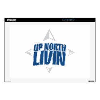 "Up North Livin - Compass 17"" Laptop Skins"