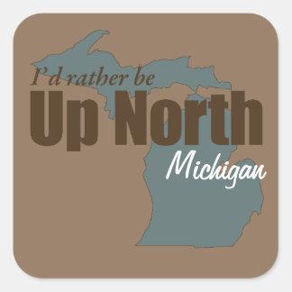 Up North - Michigan Square Stickers