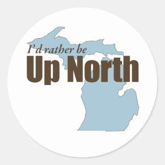 Up North - Michigan Round Stickers