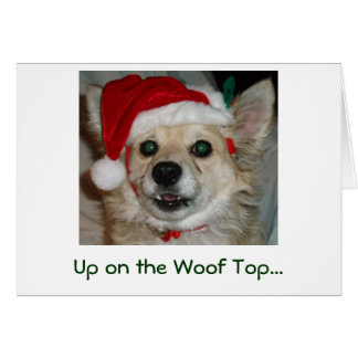 Up on the Woof Top... Card