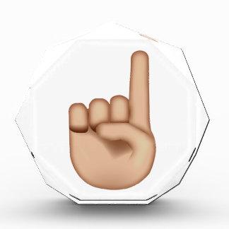 Up Pointing Hand - Emoji Acrylic Award