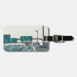 Up ramp on a highway luggage tag