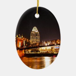Up River Ceramic Ornament
