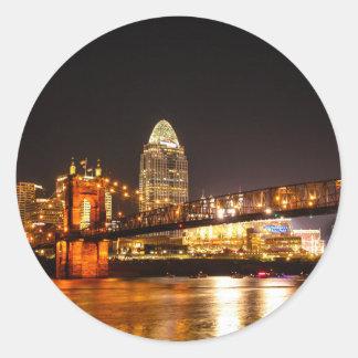Up River Classic Round Sticker