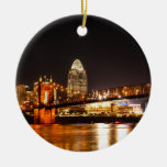Up River Double-Sided Ceramic Round Christmas Ornament