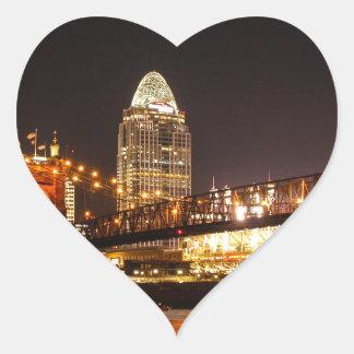Up River Heart Sticker