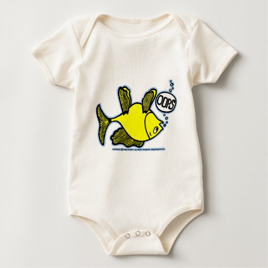Up Side Down Fish! Baby Bodysuit