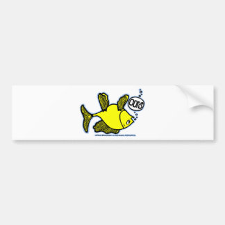 Up Side Down Fish! Bumper Sticker