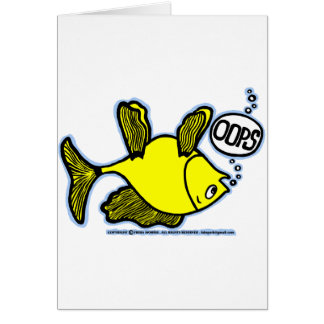 Up Side Down Fish! Card