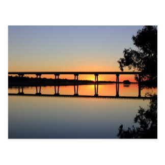 Up side Down sunset Postcard