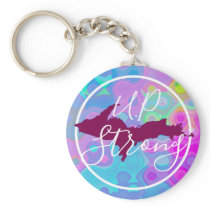 UP Strong button keychain