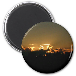 up sunset 2 inch round magnet