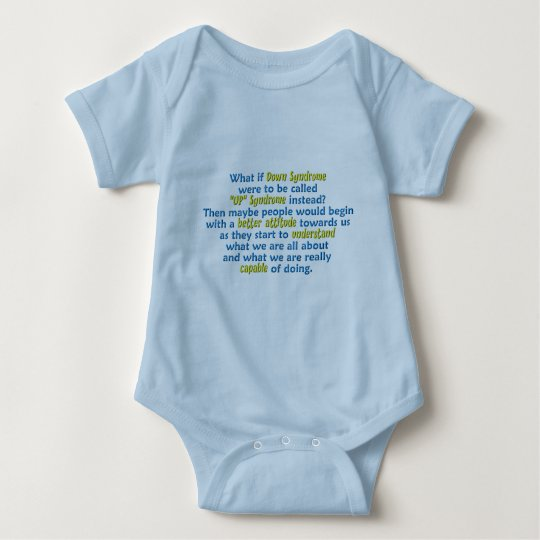 """""""UP"""" Syndrome Baby Bodysuit"""
