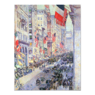 Up the Avenue from 34th Street by Childe Hassam Card